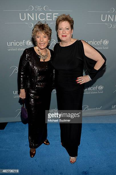 Dena Kaye and Caryl Stern President CEO US Fund for UNICEF attend the 2014 UNICEF Ball presented by Baccarat at the Beverly Wilshire Four Seasons...