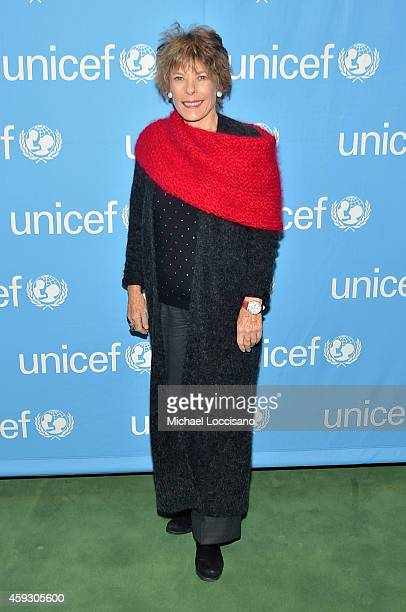 Dena Kaye attends the UNICEF launch of the #IMAGINE Project to celebrate the 25th Anniversary of the rights of a child at United Nations on November...