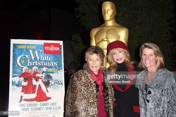 Dena Kaye Mary Crosby and Monsita Ferrer Botwick attend the Academy Of Motion Picture Arts and Sciences' presents it's a White Christmas held at...