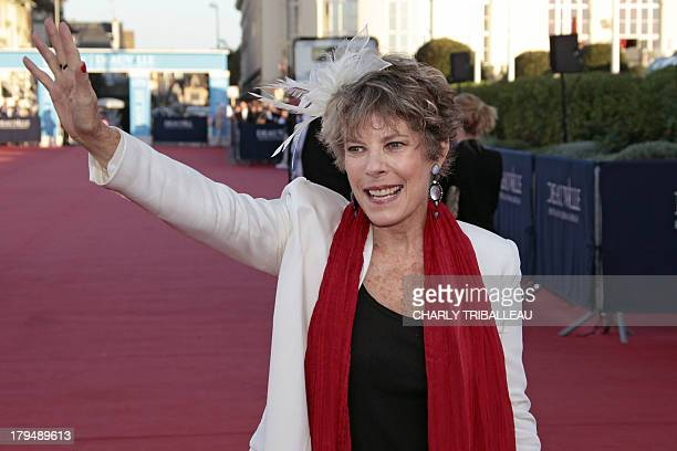 Dena Kaye the daughter of US actor Danny Kaye poses on the red carpet before the screening of Parkland on September 4 as part of the 39th Deauville...