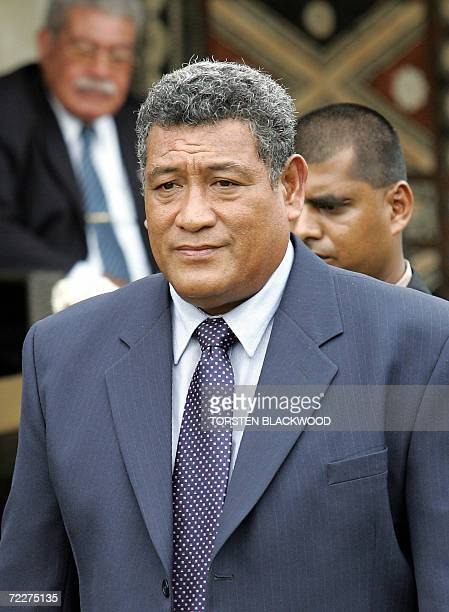 Tuvalu Prime Minister Apisai Ielemia arrives for the opening ceremony of the 37th Pacific Islands Forum meeting on Denarau Island in Fiji 24 October...