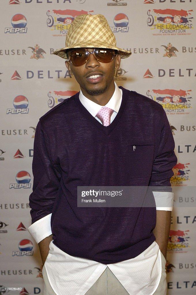 Denard 'Blu' Brewster during Karma: The 4th Annual Ludacris Foundation Dinner & Casino Night - Arrivals at Atlanta Apparel Mart in Atlanta, Georgia, United States.