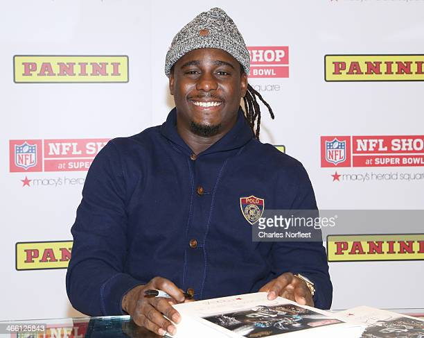 Denard Robinson of the Jacksonville Jaguars visits Macy's Herald Square on January 31 2014 in New York City