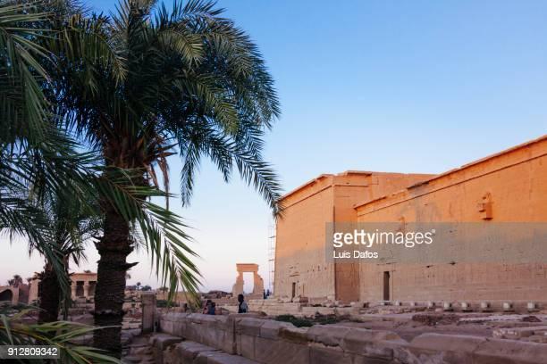 dendera temple - tempelcomplex van dendera stockfoto's en -beelden