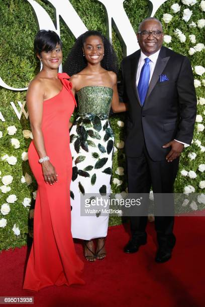 Denee Benton and family attend the 71st Annual Tony Awards at Radio City Music Hall on June 11 2017 in New York City
