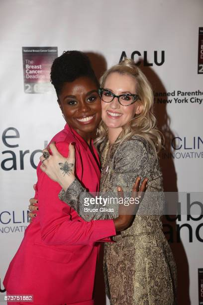 Denee Benton and Ingrid Michaelson pose at 'Double Standards' a concert benefiting womans rights heath and empowerment funding the ACLU National...