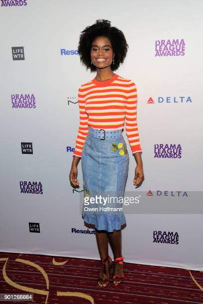 Denee Benton attends 83rd Annual Drama League Awards at Marriott Marquis on May 19 2017 in New York City