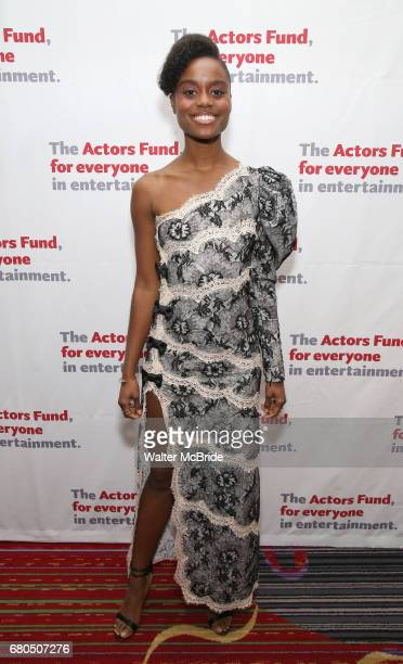 Denee Benton attends The Actors Fund Annual Gala at the Marriott Marquis on 5/8//2017 in New York City