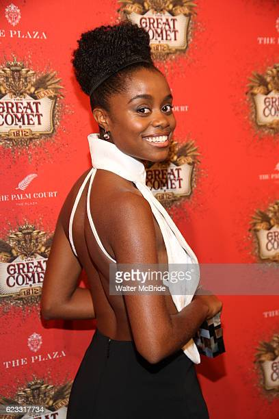 Denee Benton attends the after party for the 'Natasha Pierre The Great Comet Of 1812' opening night on Broadway at The Plaza Hotel on November 14...