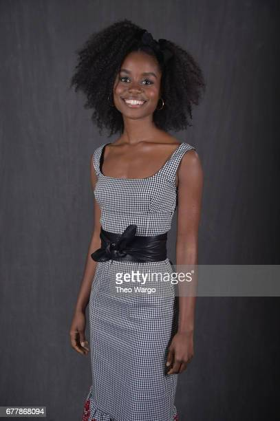 Denee Benton poses at the 2017 Tony Awards Meet The Nominees press junket portrait studio at Sofitel New York on May 3 2017 in New York City