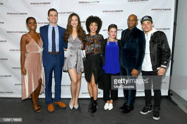 Denee Benton Solea Pfeiffer Sasha Hutchings Betsy Struxness and Brandon Victor Dixon attend the 2018 Arthur Miller Foundation Honors at City Winery...