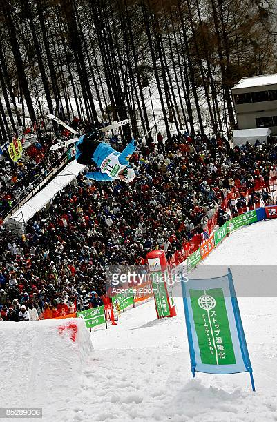 Deneen Patrick of United States of America takes 1st place during the FIS Freestyle World Championships Men's Moguls event on March 07 2009 in...