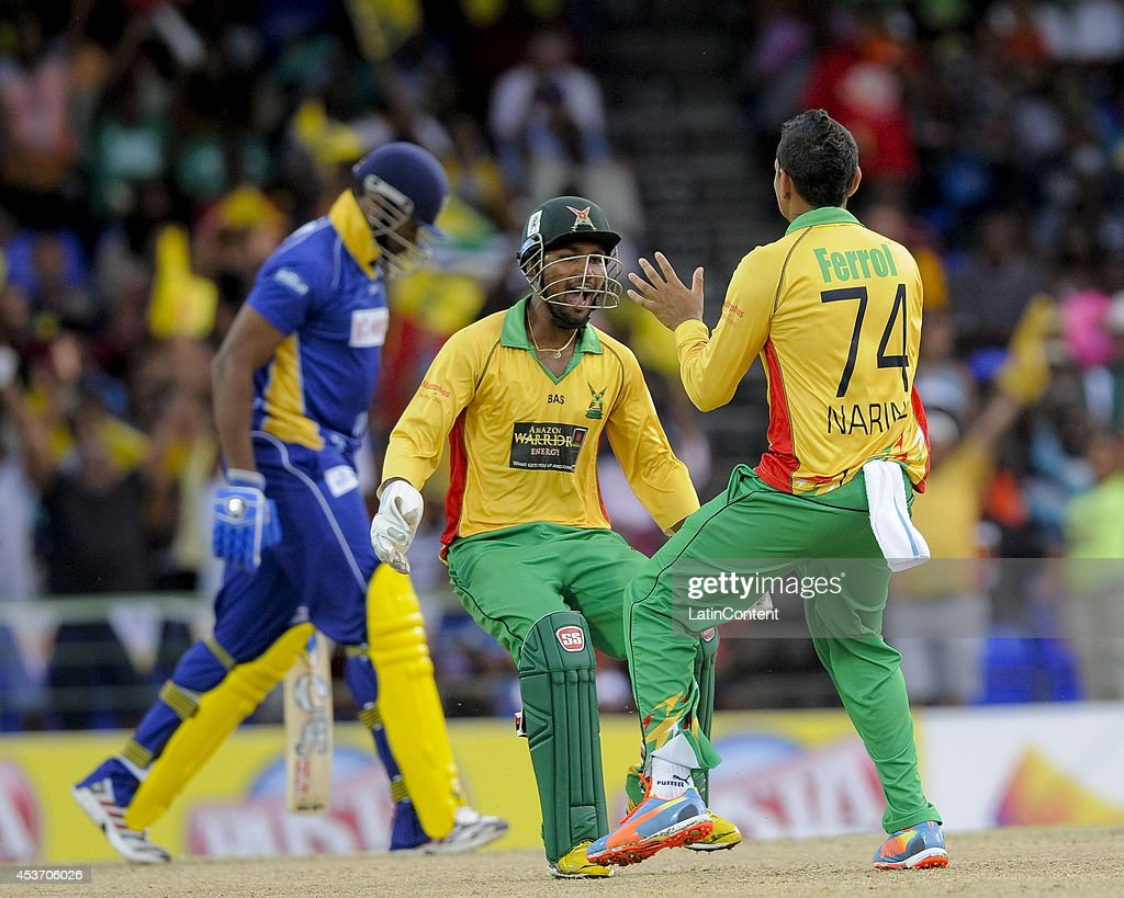 Championship Game: Guyana Amazon Warriors v Barbados Tridents - CPL 2014 : News Photo