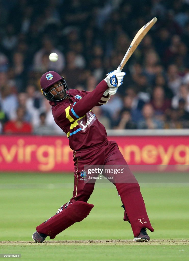 Denesh Ramdin of West Indies bats during the Hurricane Relief T20 match between the ICC World XI and West Indies at Lord's Cricket Ground on May 31, 2018 in London, England.