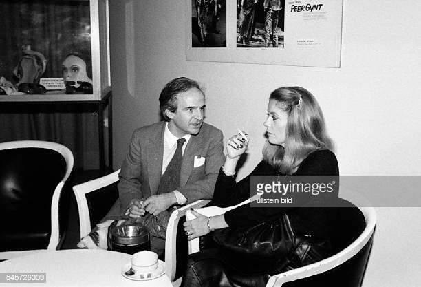 Deneuve Catherine Actress France and director Francois Truffaut about 1980