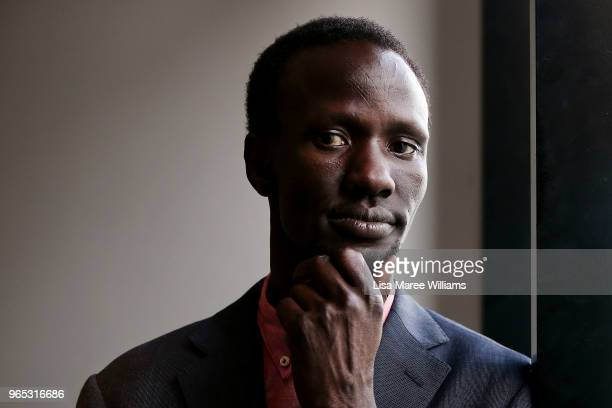 Deng Thiak Adut speaks during BT Changing The Ratio 2018 at Belvoir Street Theatre on May 28 2018 in Sydney Australia