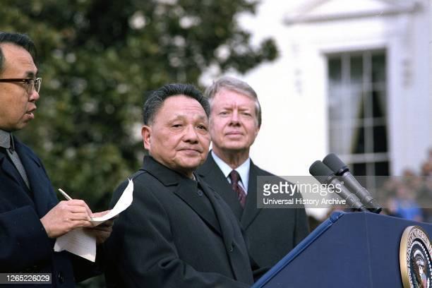 Deng Xiaoping and Jimmy Carter, Washington DC. 1979.