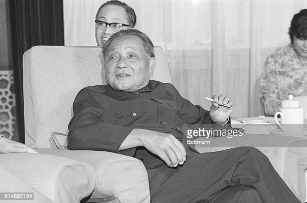 Deng Xiaoping during a meeting with Senator Henry Jackson in Beijing