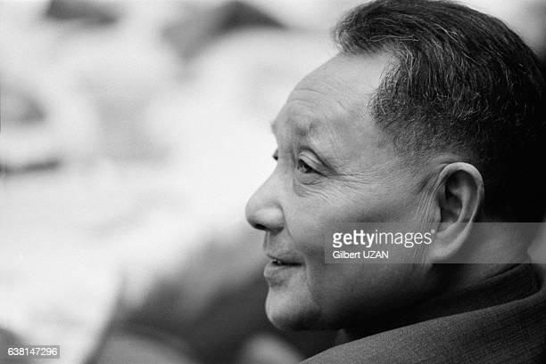 Deng Xiaoping à Houston, au Texas, aux Etats-Unis, lors de sa visite officielle, le 2 février 1979.