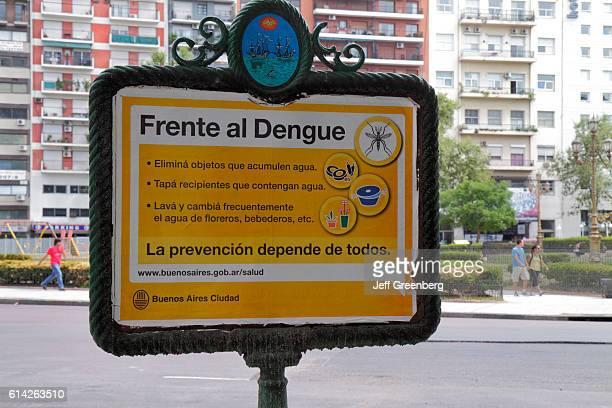 Dengue Fever prevention sign in Avenida de Mayo
