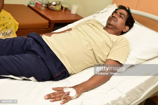 Dengue patient Om Prakash admitted in Moolchand Hospital, on August 29, 2017 in New Delhi, India. As per the report released by three municipal...