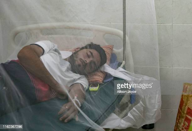 Dengue patients are seen at Shaheed Suhrawardy Medical College and Hospital on August 18 2019 in Dhaka Bangladesh 1460 people were infected in 24...