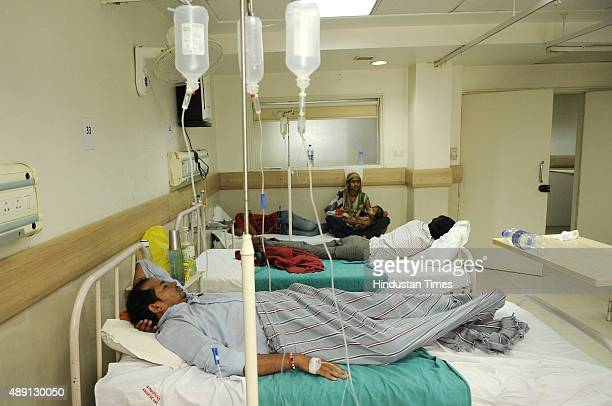 Dengue wards at district hospital running without mosquito nets on September 18 2015 in Noida India As Delhi/NCR battles its worst dengue outbreak in...