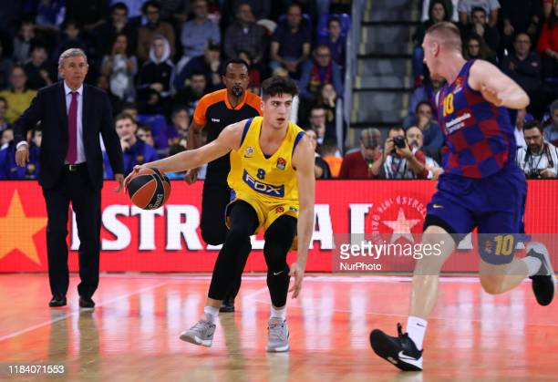 Deni Avdija during the match between FC Barcelona and Maccabi Tel Aviv played at the Palau Blaugrana corresponding to the week 10 of the Euroleague...