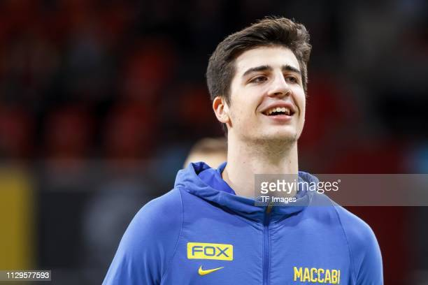 Deni Avdija of Maccabi Fox Tel Aviv looks on prior to the Turkish Airlines EuroLeague match between FC Bayern Munich and Maccabi Fox Tel Aviv at Audi...