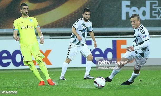 Deni Milosevic of Atiker Konyaspor in action during the UEFA Europa League Group H football match between Gent and Atiker Konyaspor at the Ghelamco...