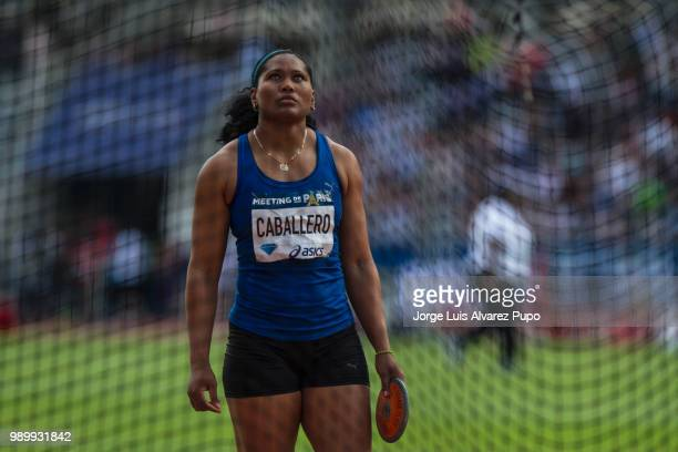 Denia Caballero of Cuba competes in the Discus Throw Women of the IAAF Diamond League Meeting de Paris 2018 at the Stade Charlety on June 30 2018 in...