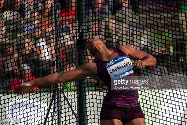 Denia Caballero of Cuba competes in the Women's Discus during the AG Insurance Memorial Van Damme as part of the IAAF Diamond League 2015 in King...