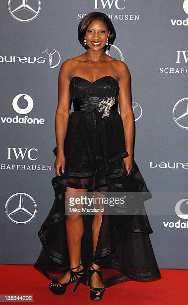 Denice Lewis arrives at the Laureus World Sports Awards at the Queen Elizabeth Hall on February 6, 2012 in London, England.