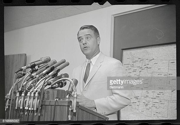 Denies Charges Washington DC Sargent Shriver Director of the Office of Economic Opportunity shown at a news conference today blamed local officials...