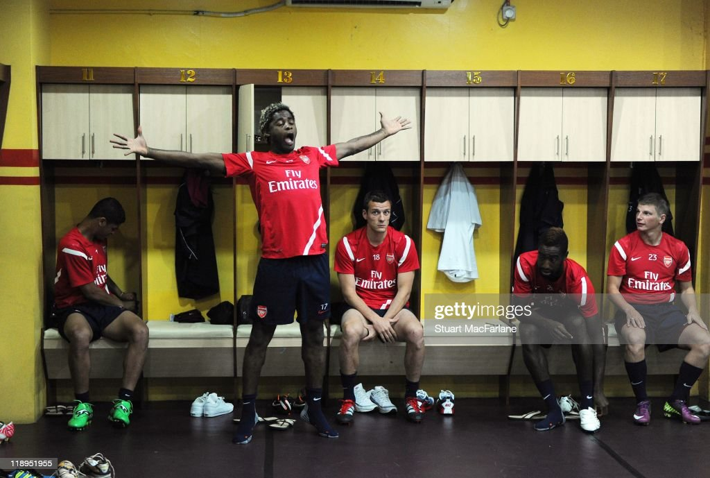 Arsenal FC Training Session In Shah Alam During Tour Of Asia