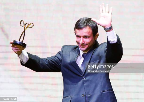 Denilson Lourenço paralympic head coach poses for photo after winning the best individual coach athlete during the Brazil Paralympics Awards Ceremony...