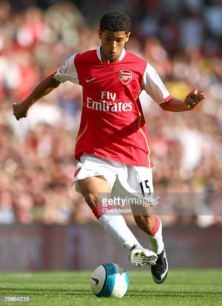 Denilson of Arsenal during the 'Emirates Cup' match between Arsenal and Inter Milan at the Emirates Stadium on July 29 2007 in London England