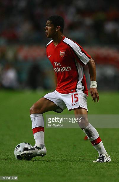 Denilson of Arsenal in action during the Amsterdam Tournament match between Ajax and Arsenal at the Amsterdam Arena on August 8 2008 in Amsterdam...
