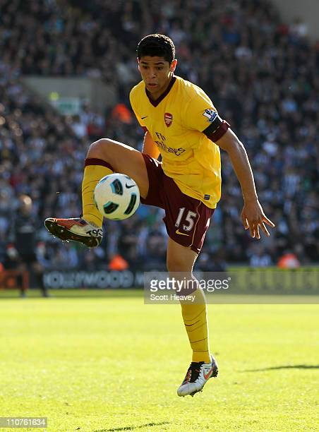 Denilson of Arsenal in action during the Barclays Premier League match between West Bromwich Albion and Arsenal at The Hawthorns on March 19 2011 in...