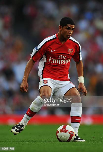Denilson of Arsenal in action during the Barclays Premier League match between Arsenal and Newcastle United at the Emirates Stadium on August 30 2008...