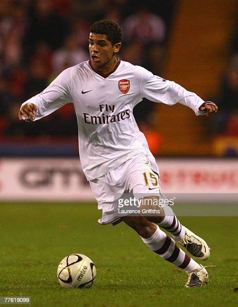 Denilson of Arsenal in action during the Carling Cup Fourth Round match between Sheffield United and Arsenal at Bramall Lane on October 31 2007 in...