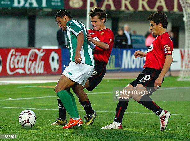 Denilson of Betis during the Primera Liga match between Real Mallorca and Real Betis on March 9 2003 at Son Moix Stadium Mallorca Spain