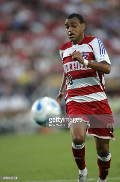 Denilson takes the ball down field during a game between FC Dallas and the Chicago Fire September 20, 2007 at Pizza Hut Park in Frisco, Texas.