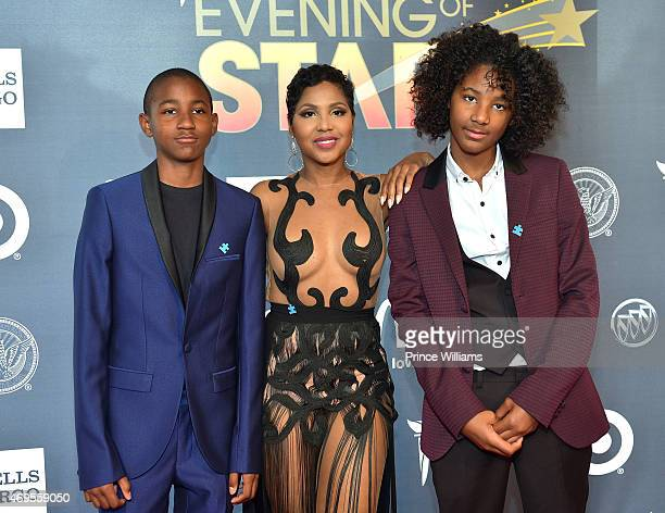 Denim Cole BraxtonLewis Toni Braxton and Diezel Ky BraxtonLewis attend An Evening of Stars at Atlanta Civic Center on April 12 2015 in Atlanta Georgia