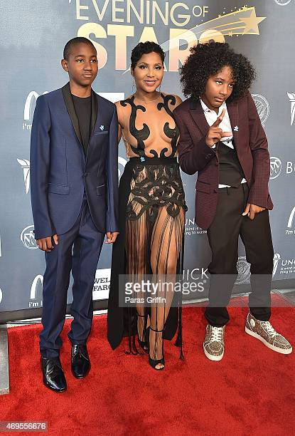 Denim Cole BraxtonLewisToni Braxton and Diezel Ky BraxtonLewis attend the UNCF 'An Evening of Stars' at Boisfeuillet Jones Atlanta Civic Center on...