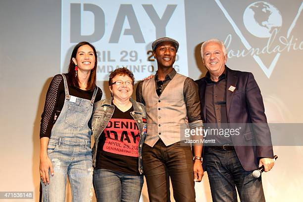 Denim Day 2015 Spokesperson and recording artist Maya Jupiter Denim Day Founder and Peace Over Violence Executive Director Patti Giggans Denim Day...