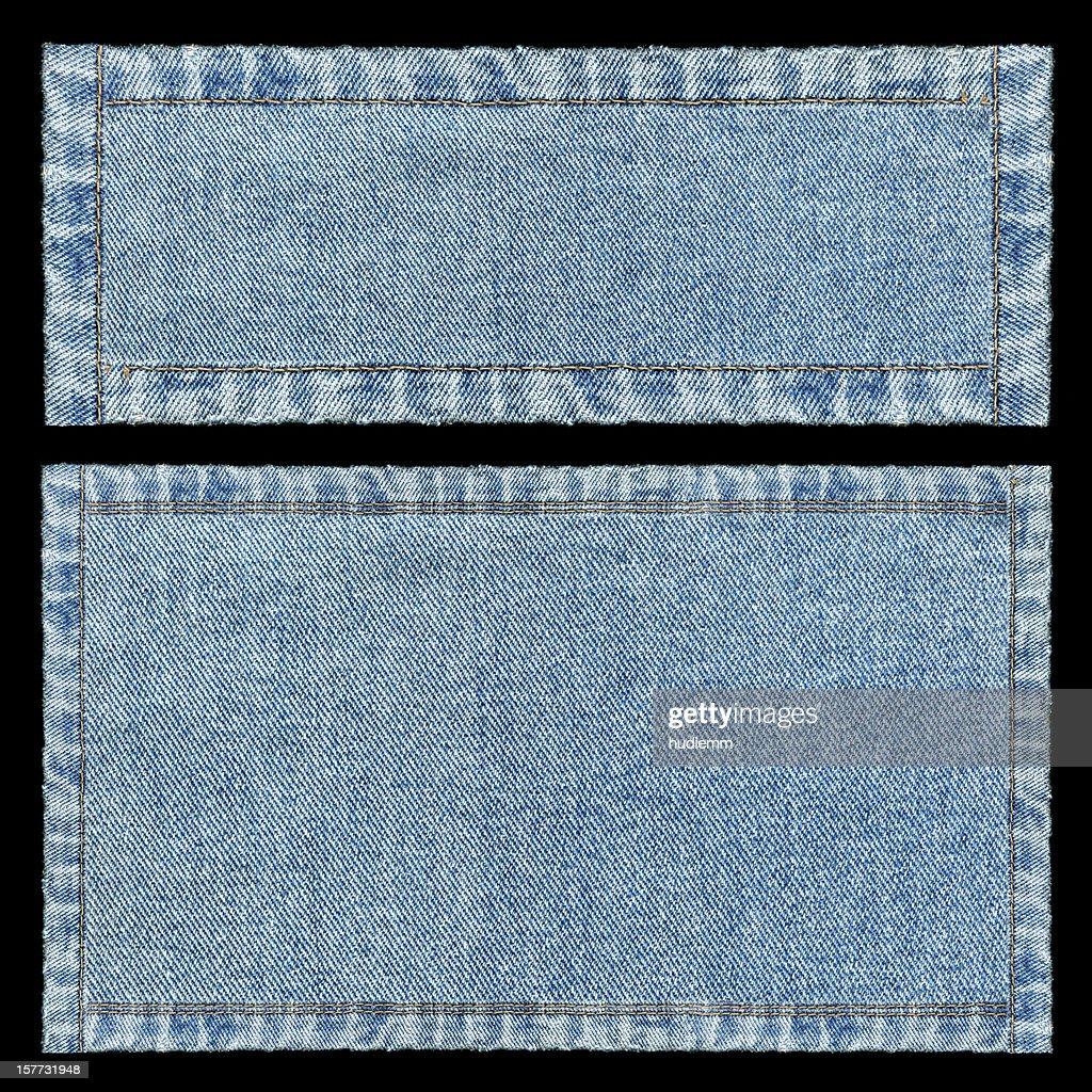 Denim frames background textured isolated : Stock Photo
