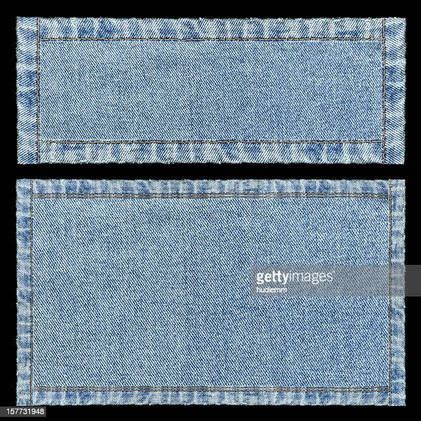 Denim frames background textured isolated