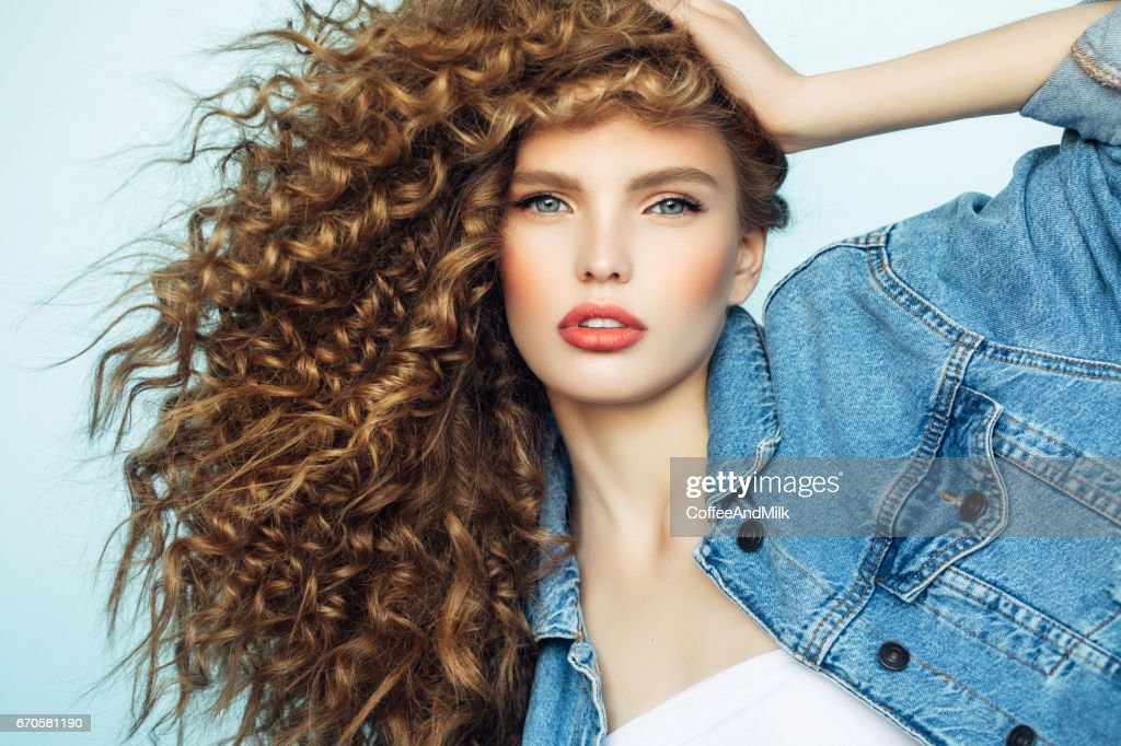 Denim girl : Stock Photo