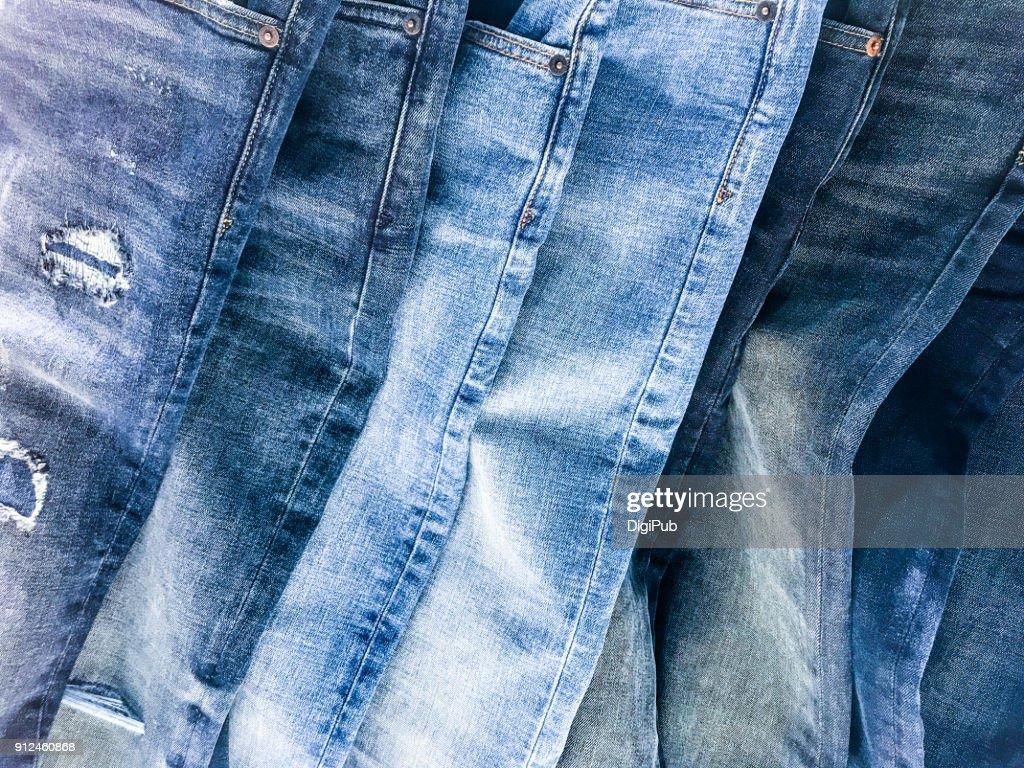 Denim jeans texture : Stock Photo
